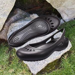 CROCS Thea Women Slingback Flats Black Size 10